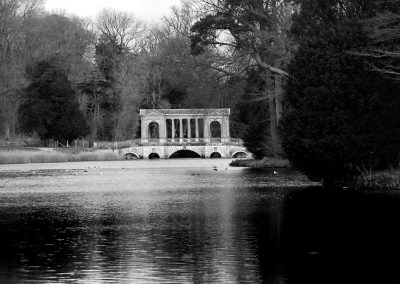 View to Palladian Bridge bw
